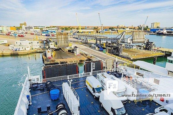 Portsmouth Continental Ferry Port. Portsmouth  Hampshire  England  United Kingdom  UK  Europe.