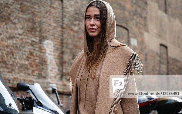 MILAN  Italy- September 20 2018: Sophia Roe on the street during the Milan Fashion Week.