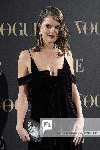 Isabelle Junot attends Vogue joyas awards photocall at Madrid at Palacio de Santoña on November 29  2018 in Madrid  Spain