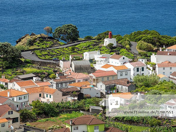Village Ribeiras. Pico Island  an island in the Azores (Ilhas dos Acores) in the Atlantic ocean. The Azores are an autonomous region of Portugal. Europe  Portugal  Azores.
