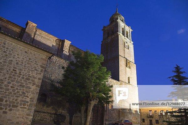 Saint Mary collegiate church in Medinaceli village in Soria province Castile Leon Spain.