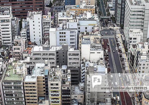 Häuserschluchten in Tokio  Japan