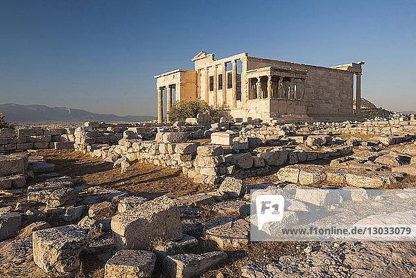 Acropolis  UNESCO World Heritage Site  Athens  Attica Region  Greece