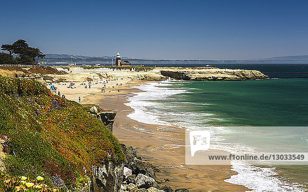 Lighthouse Field State Beach and Salt Rock  Santa Cruz  California  United States of America
