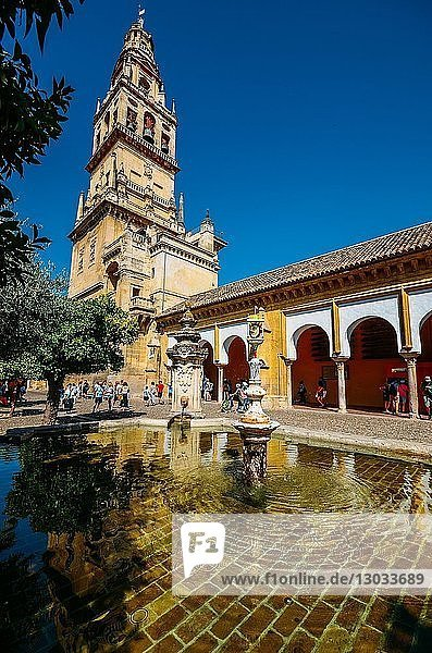 Bell Tower of La Mezquita (Great Mosque)  UNESCO World Heritage Site  Cordoba  Andalucia  Spain
