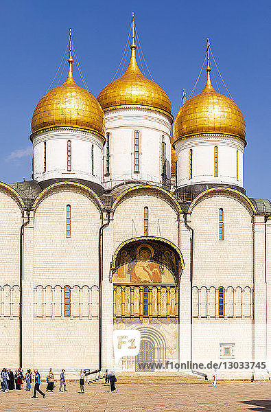 Church of the Twelve Apostles inside the Kremlin  UNESCO World Heritage Site  Moscow  Russia