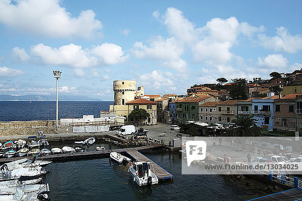 Giglio port  Tuscany  Italy