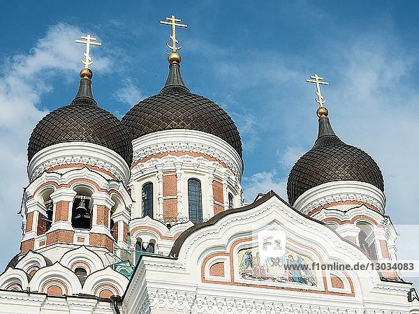 Alexander Nevsky Cathedral (Russian Orthodox)  Toompea (Upper Town)  UNESCO World Heritage Site  Tallinn  Estonia  Baltics