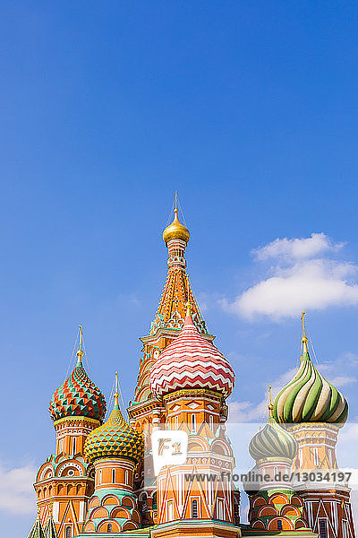 The Cathedral of Vasily the Blessed (St. Basil's Cathedral)  Red Square  UNESCO World Heritage Site  Moscow  Russia