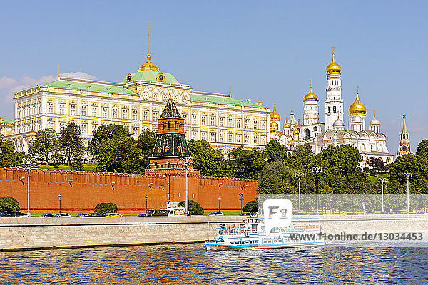 Moscow River and the Kremlin  UNESCO World Heritage Site  Moscow  Russia
