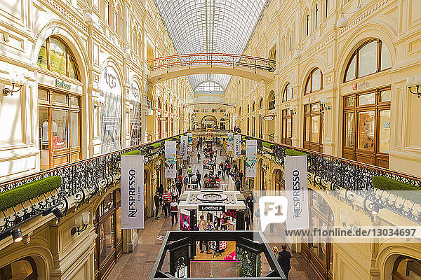 GUM department store in Red Square  Moscow  Russia