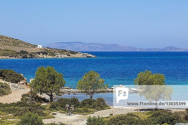 Blefoutis beach  Leros Island  Dodecanese  Greek Islands  Greece