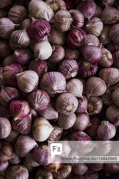 Close-up of onions for sale at market