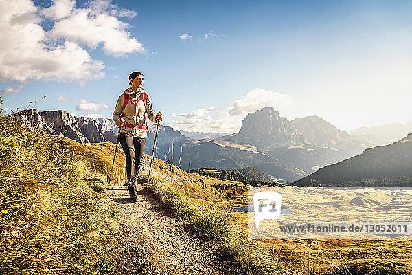 Wandern in Puez-Geisler  rund um die Geislergruppe  Dolomiten  Trentino-Südtirol  Italien
