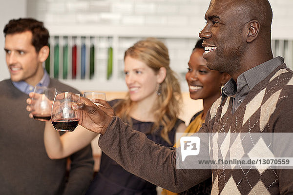 Friends toasting with wineglasses
