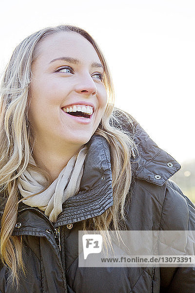 Close-up of woman laughing