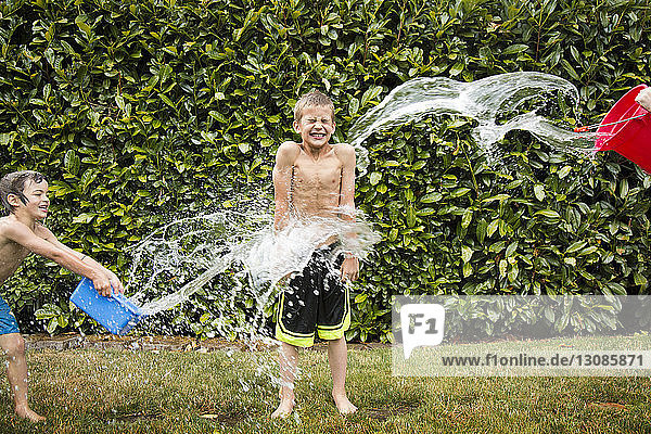 Boys playing in water