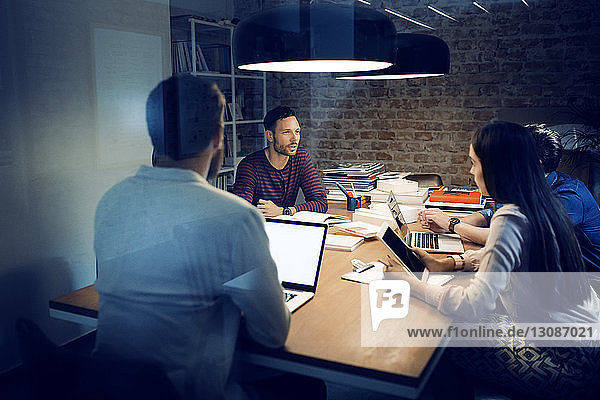Business people having discussion in conference room