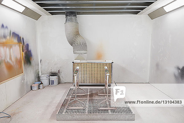 Ventilated paint booth