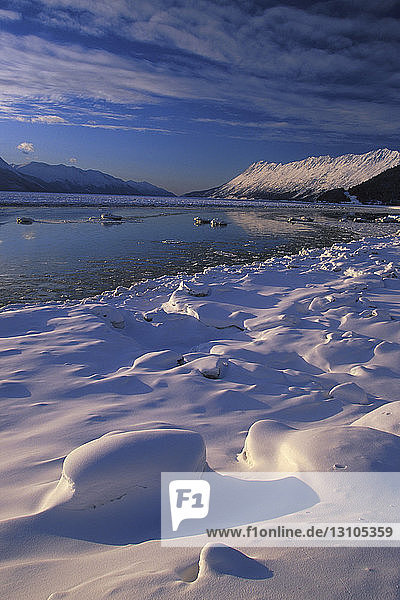 Turnagain Arm Winter Southcentral Ak