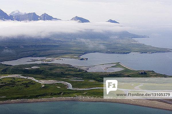 Cape Douglas And Sukoi Bay Along The Coast Of Katmai National Park  Alaska