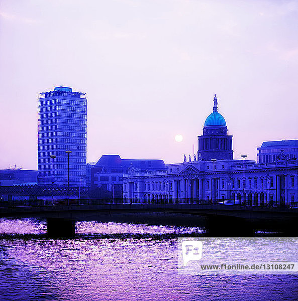 Dublin  Co Dublin  Ireland  Customs House  At Sunset