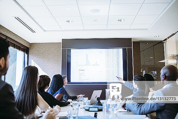 Business people brainstorming in meeting at conference room