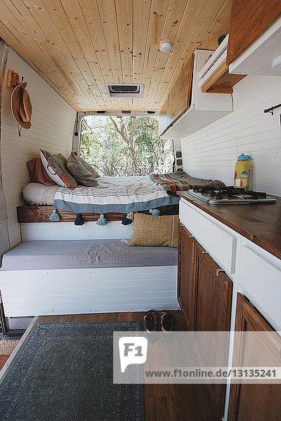 Interieur eines Wohnmobils