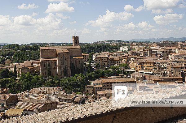 Italy  Tuscany  Siena  cityscape