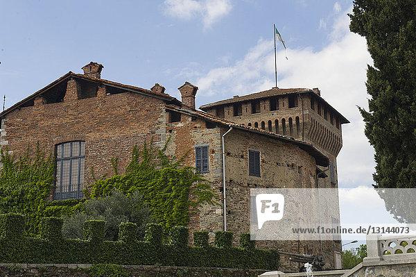 Europe  Italy  Lombardy  Somma Lombardo  Visconti di S. Vito castle.