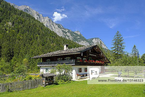 Germany  Bavaria  Berchtesgadener Land  Farmhouse  Information Centre Berchtesgaden National Park