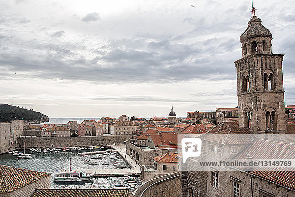 View of old town and harbor  Dubrovnik  Croatia