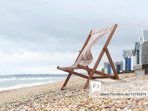 Deckchair on Beach Deckchair on Beach
