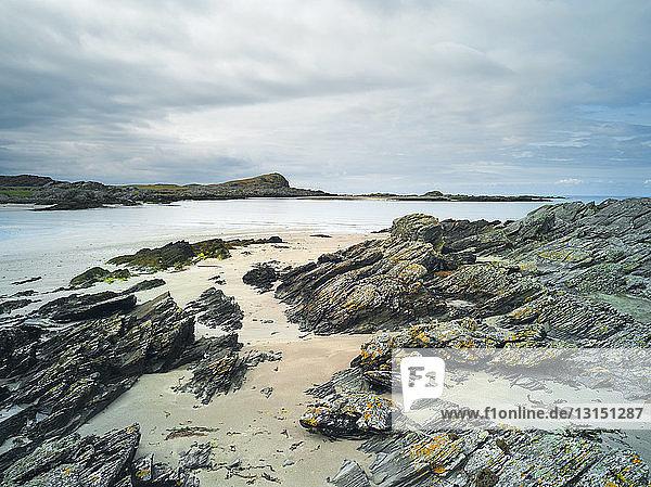 Rocks on beach  Isle of Colonsay  Scotland