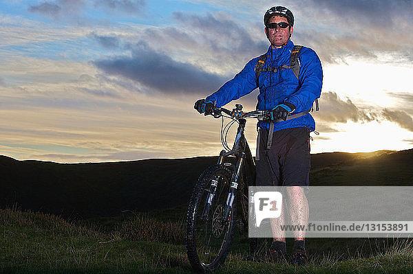 Portrait of a mountain biker.