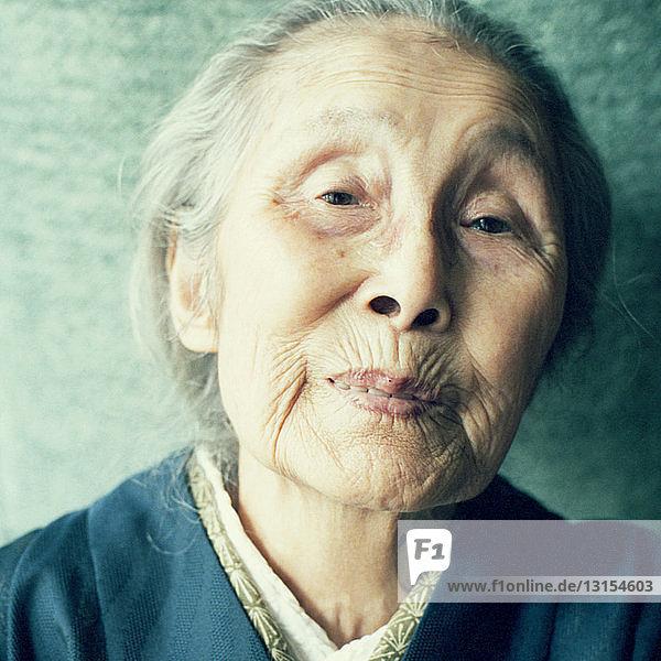 Senior Japanese woman  portrait