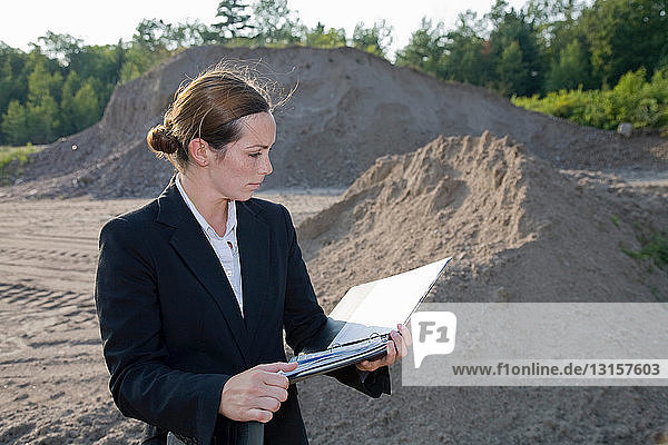 Business woman planning development