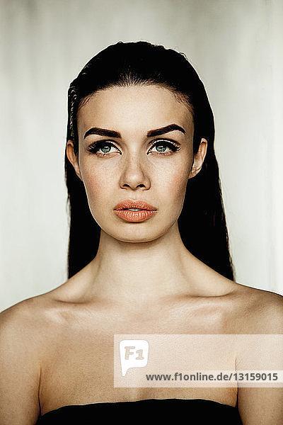 Model  portrait  bare shoulders