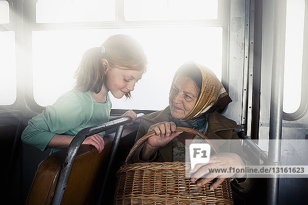 Old Woman with a young girl
