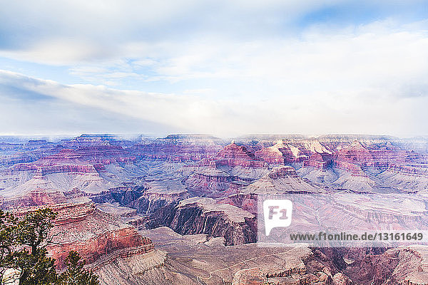 View of valleys in Grand Canyon  Arizona  USA