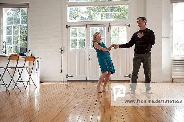 Paartänze im Tanzstudio