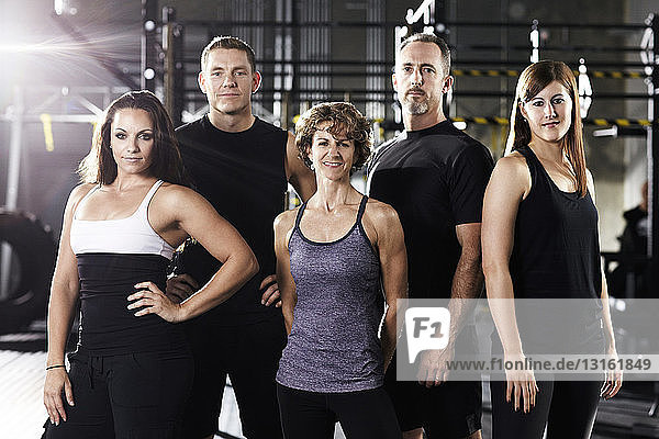 Group of trainers in a gym
