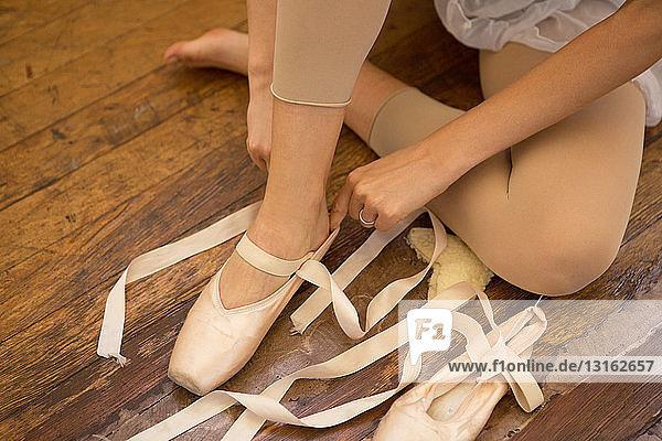 Schnürschuh für Balletttänzer