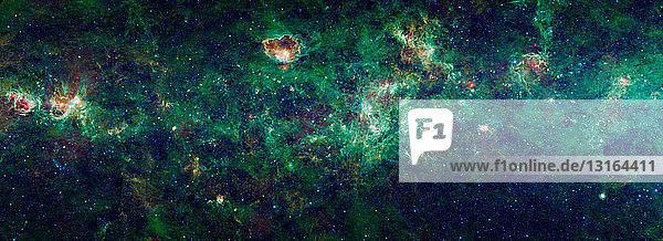 Ausschnitt der Milchstraßengalaxie