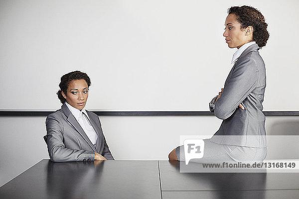 Businesswomen in office  multiple image