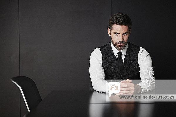 Businessman wearing waistcoat and shirt