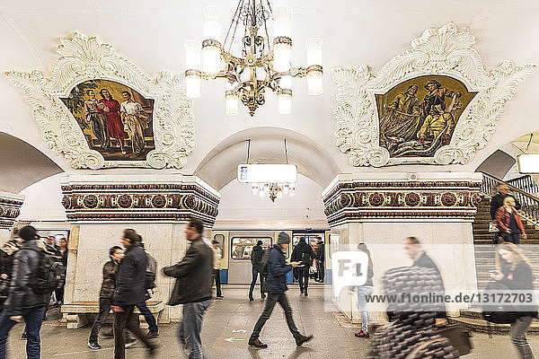 Russia  Moscow  People in Metro station