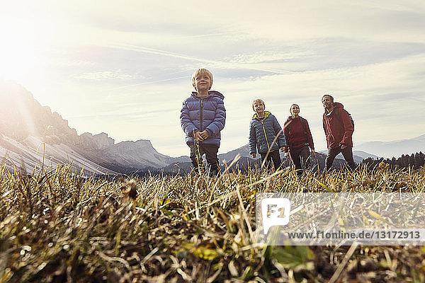 Italien  Südtirol  Geissler-Gruppe  Familienwandern