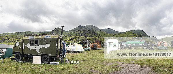 Russland  Oberes Baksan-Tal  Kaukasus  Elbrus-Basislager