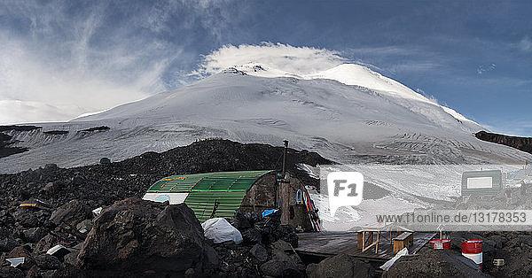 Russland  Oberes Baksan-Tal  Kaukasus  Nordlager am Elbrus